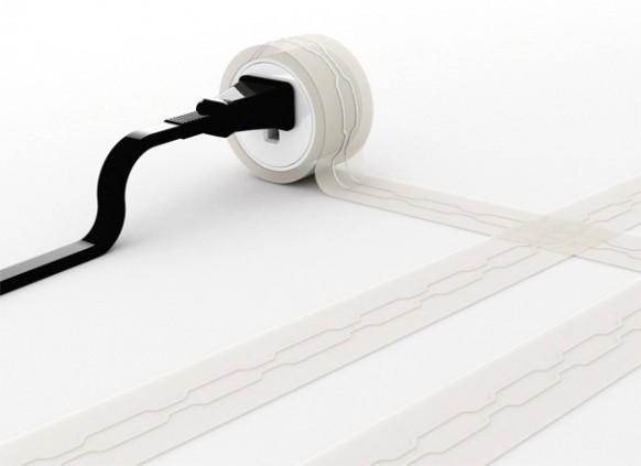 Accesorios Para Baño Que Se Pegan:Flat Under Carpet Extension Cord