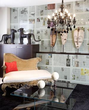 Decocasa mexico decorar las paredes con peri dico - Papel para cubrir paredes ...