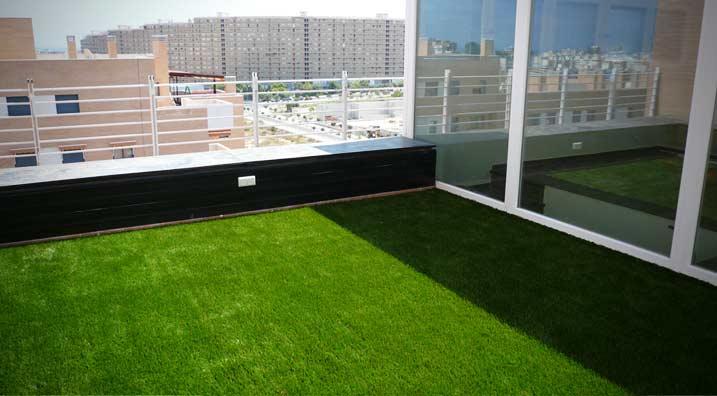 Decocasa mexico para las terrazas c sped sint tico - Alfombra cesped sintetico ...