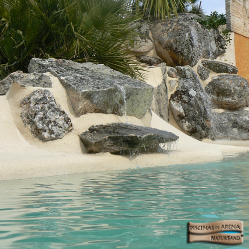 Decocasa mexico piscinas de arena trocito de playa en casa - Piscinas tipo playa ...