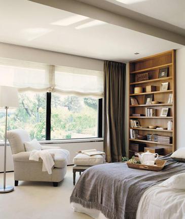 Decocasa mexico dormitorios con espacio extra integrar for Cortinas grises para dormitorio