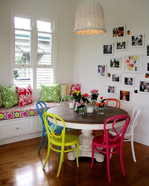 Decocasa mexico comedor sillas de colores4 for Comedor sillas de colores