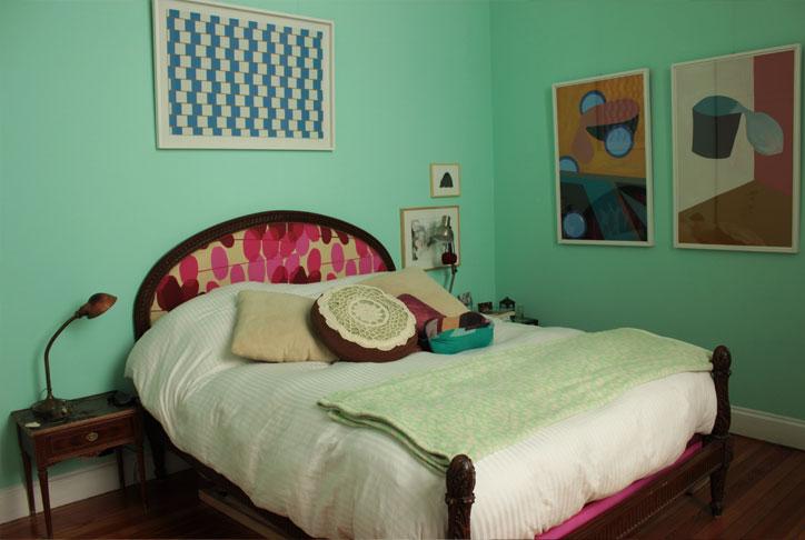 Decocasa mexico dormitorios con un toque vintage - Cuadros para habitacion matrimonial ...