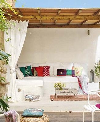 Decocasa mexico muebles de obra en tu terraza - Bancos de obra para jardin ...