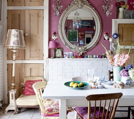 Comedor rosado de howell vintage