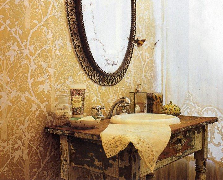 Muebles De Baño Antiguos:Decocasa Mexico » Muebles recuperados en baños románticos