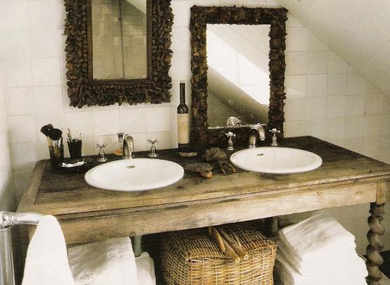 Bachas Para Baño Rusticas:Decocasa Mexico » Muebles recuperados en baños románticos