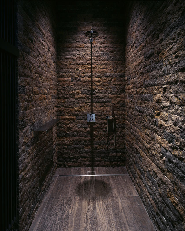 Baños Rusticos En Piedra:Bathroom Shower Stone