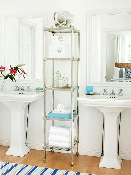 Bachas Para Baño Pequeno:Guest Bathroom Towel Storage