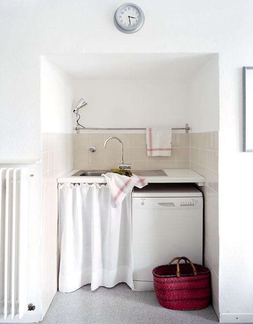 lavadero sí que aprovecha el espacio tanto aéreo como terrestre para
