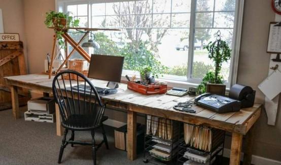 Decocasa mexico escritorios de madera for Escritorios rusticos para oficina