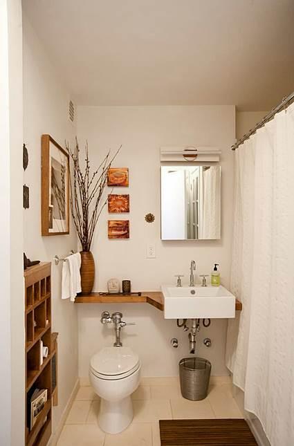 foto-baño pequeño-madera